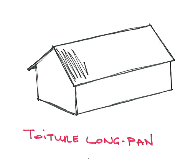 Toiture Long pan